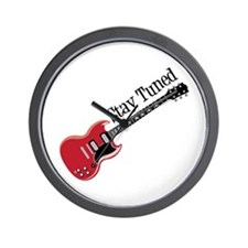 Stay Tuned Wall Clock