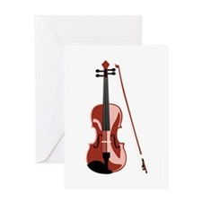 Violin and Bow Greeting Cards