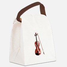 Violin and Bow Canvas Lunch Bag