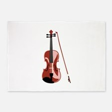Violin and Bow 5'x7'Area Rug