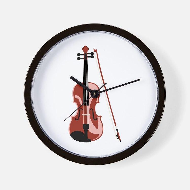Violin and Bow Wall Clock