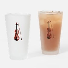 Violin and Bow Drinking Glass