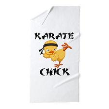 karate chick Beach Towel