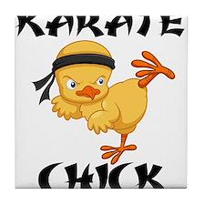 karate chick Tile Coaster