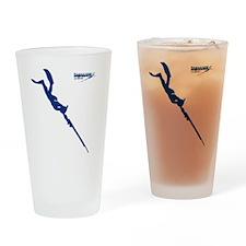 Logo 2 pescatore in apnea Drinking Glass