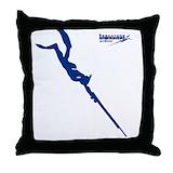 Spearfishing Cotton Pillows