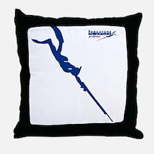 Logo 2 pescatore in apnea Throw Pillow