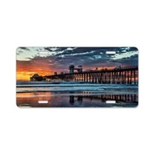 Oceanside Pier Aluminum License Plate