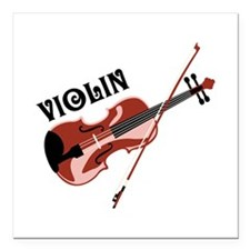 "Violin Square Car Magnet 3"" x 3"""