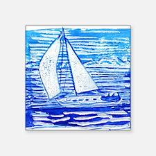 "Breezy Sail Square Sticker 3"" x 3"""