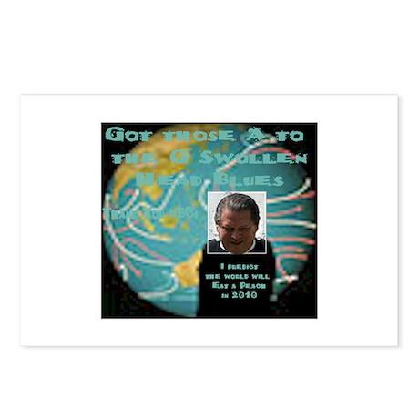 A2daG Swollen Head Blues Postcards (Package of 8)