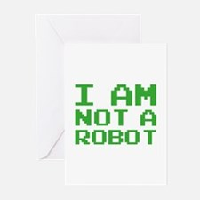 I Am Not A Robot Greeting Cards (Pk of 10)