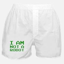 I Am Not A Robot Boxer Shorts