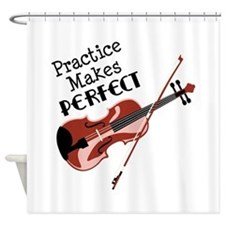 Practice Makes Perfect Shower Curtain