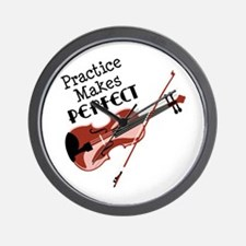 Practice Makes Perfect Wall Clock