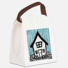 Happy House Canvas Lunch Bag