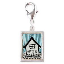 Happy House Silver Portrait Charm