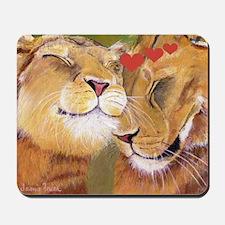 Lion Valentine Mousepad