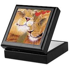 Lion Valentine Keepsake Box