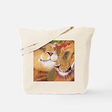 Lion Valentine Tote Bag