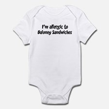 Allergic to Baloney Sandwiche Infant Bodysuit