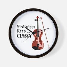 Violinists Keep it Classy Wall Clock
