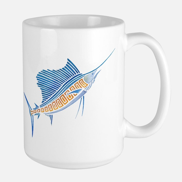 Tribal Sailfish Large Mug