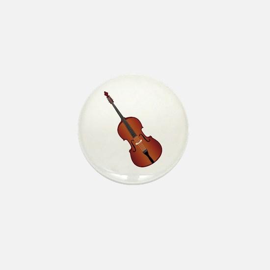 Standup Bass Mini Button