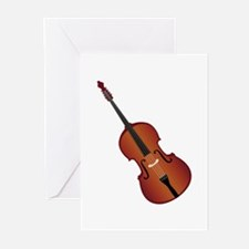 Standup Bass Greeting Cards