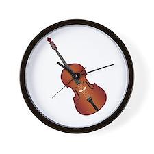 Standup Bass Wall Clock