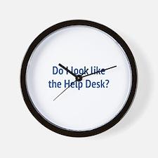 Do I Look Like The Help Desk? Wall Clock