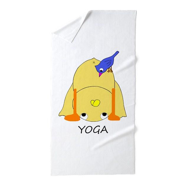 Yoga Beach Towel By Yayatheduck