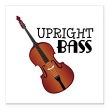 """Upright Bass Square Car Magnet 3"""" x 3"""""""