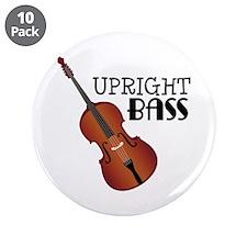 """Upright Bass 3.5"""" Button (10 pack)"""