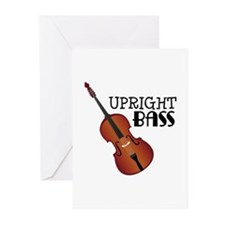 Upright Bass Greeting Cards