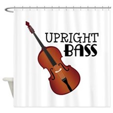 Upright Bass Shower Curtain