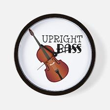 Upright Bass Wall Clock