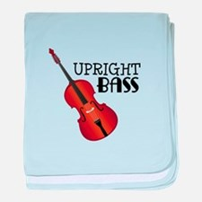 Upright Bass baby blanket