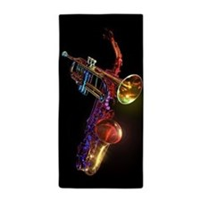 Brass Instruments Beach Towel