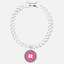 Pink R Monogram Bracelet