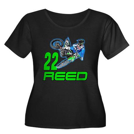 Reed 14 Women's Plus Size Scoop Neck Dark T-Shirt