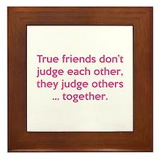 True Friends Framed Tile