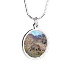Bright Angel Mule Ride To Ph Silver Round Necklace