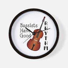Bassists Have Good Rhythm Wall Clock