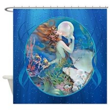 Clive Erotic Pearl Mermaid Right Shower Curtain