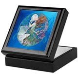 Art deco keepsake box Square Keepsake Boxes
