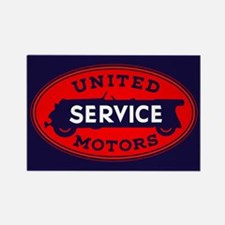 United Motors Service Rectangle Magnet