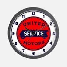 United Motors Service Wall Clock