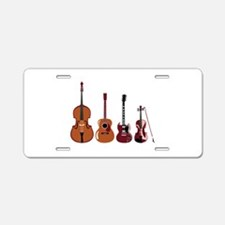 Bass Guitars and Violin Aluminum License Plate