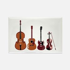 Bass Guitars and Violin Magnets